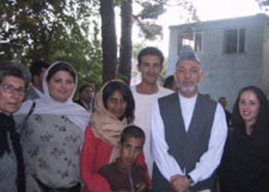 WAW Staff with President Hamid Karzai