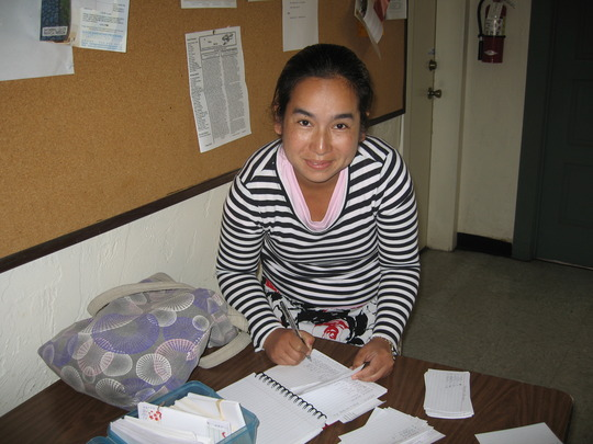One of our Karen Outreach Workers