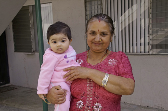Bhutanese refugee and her granddaughter