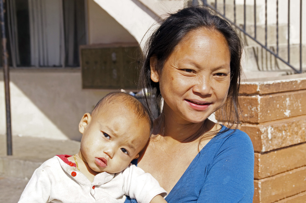 Karen mother and child