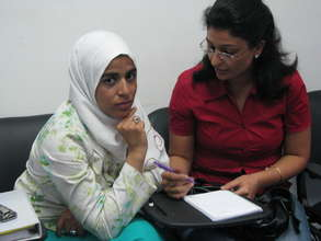 EFE-Egypt trainees work together on assignment