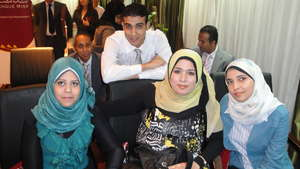EFE-Egypt trainees at graduation ceremony