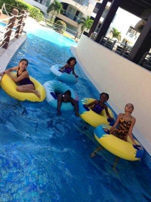 Enjoying the pools!
