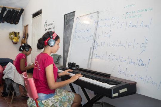 In music class
