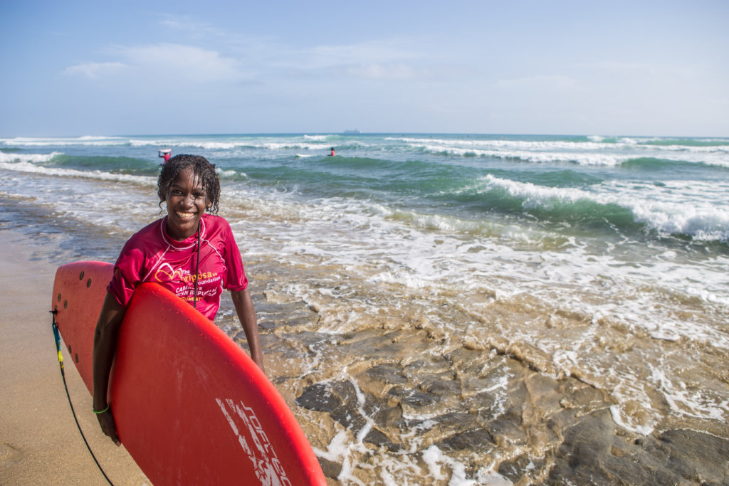 Naomi won the advanced surf group
