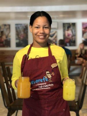 Viviana Interning at Cabarete Coffee Company