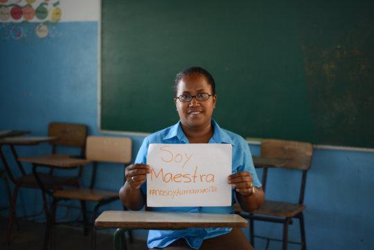 "Local school director Miguelina: ""I am a teacher"""