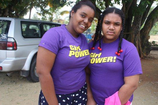Yanaira on the left