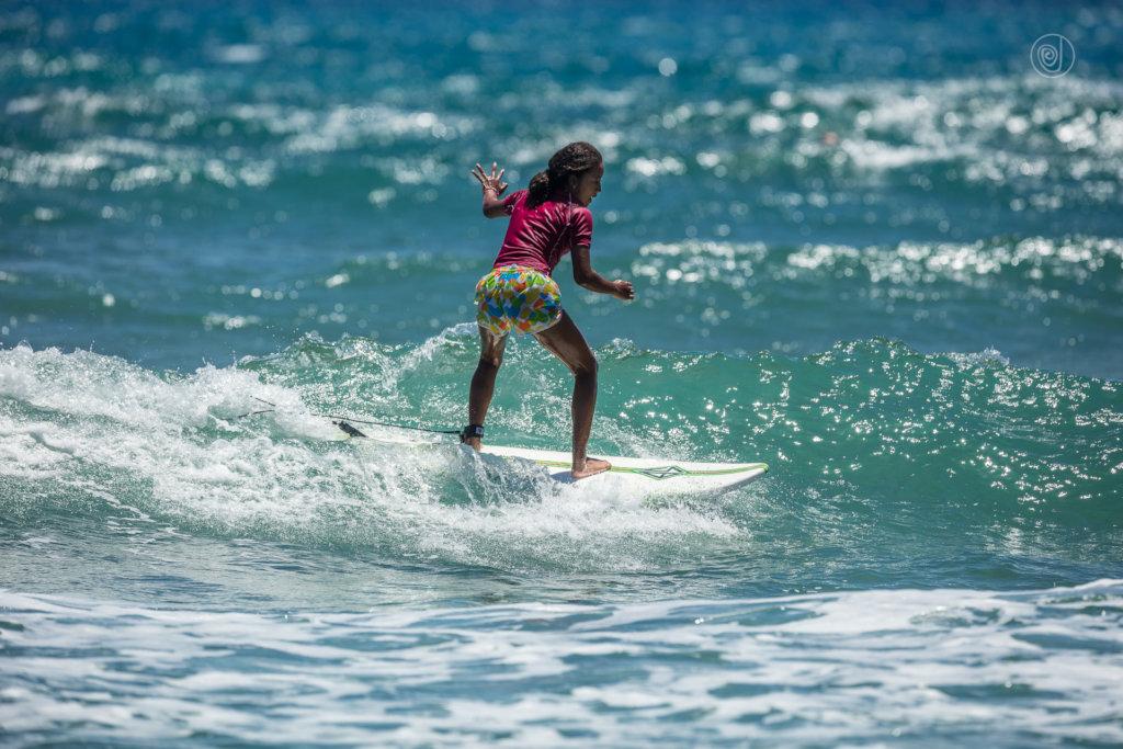 Nicole riding a wave. Photo: Sebastiano Massimino