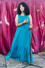 Liz Acevedo performs her spoken word poem