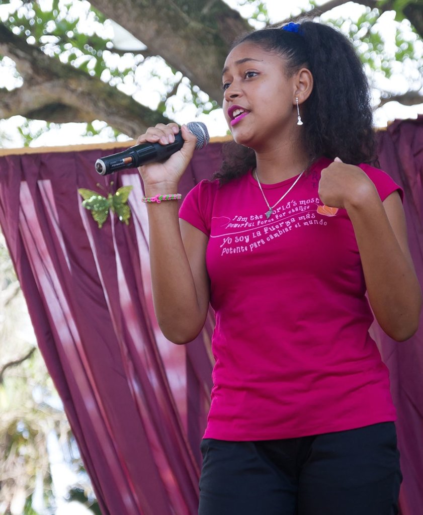 Rosa Emilia shares her story with poise and pride