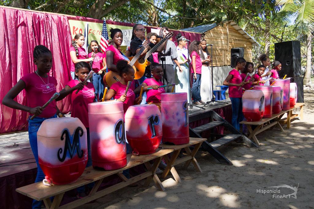Mariposa musical group performing original songs