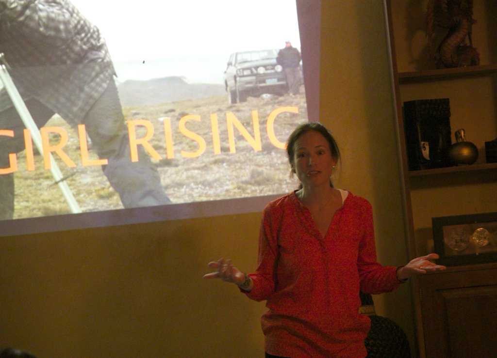 Holly Gordon gave social media campaign workshop