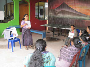 Vilma leads a session