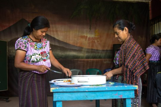 Beneficiary mothers at a nutrition workshop
