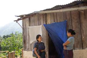 Rebeca conducting home visits