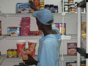 Client shops in Francis House food pantry