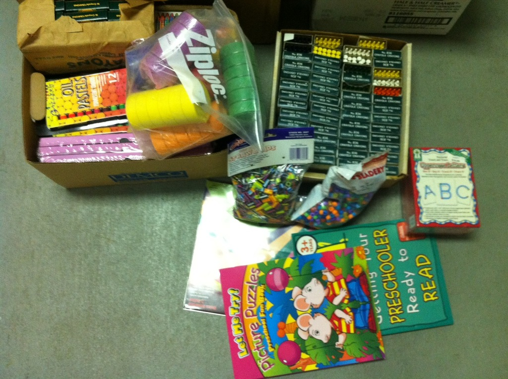 A few goodies from the Newman supply drive!