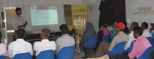 Aman Staff Providing CPR training