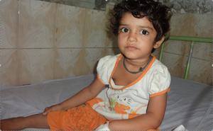 Child under treatment - Paeds Ward June 2013