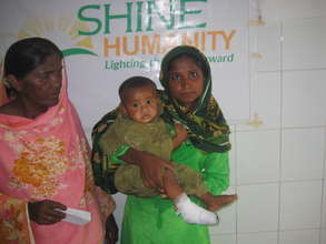 Child treated for foot wound- SHINE -Aasra Gharo