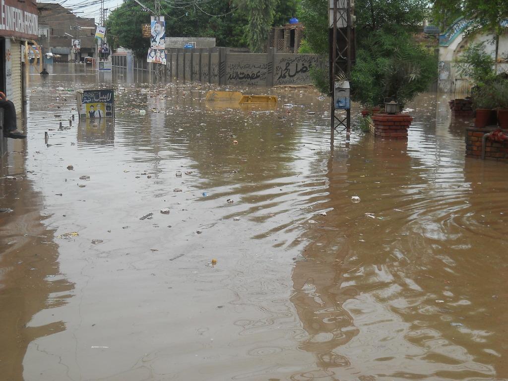 Flooded Street in Shikarpur