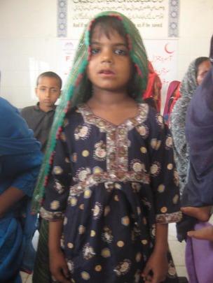 Girl at the medical camp