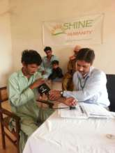 Nisar at our Kuthi Khun mobile clinic