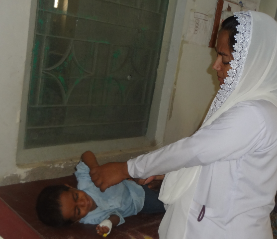 A Nurse Managing an Admitted child- June 2013