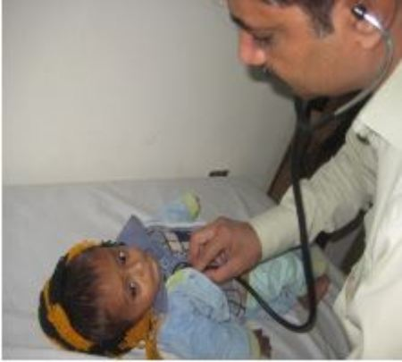 Omar being treated