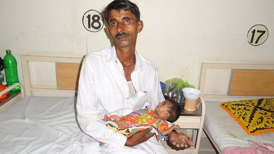 Father and Child, Pediatric ward -Shikarpur,Sindh