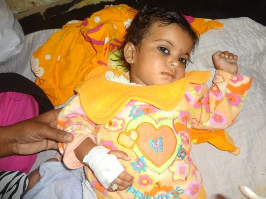 Child under treatment - Shikarpur