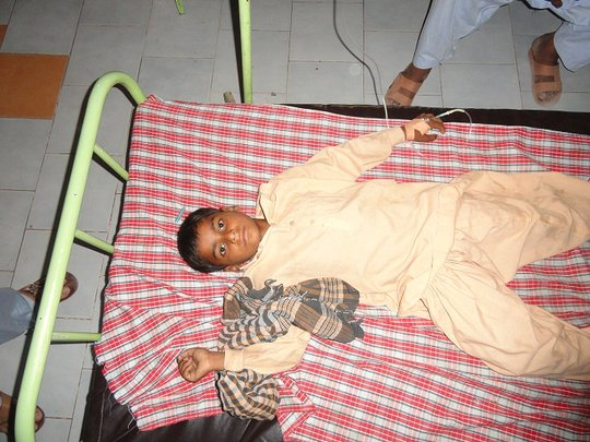 Young Boy admitted at Pediatric Ward -Shikarpur