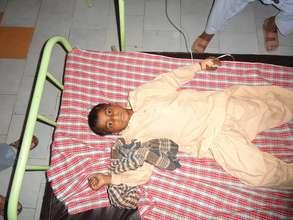 Young Boy admitted at Pediatric Ward -Shikarpur
