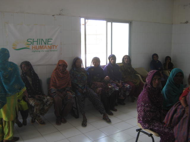 Displaced persons await treatment at SH-Aasra Ghar