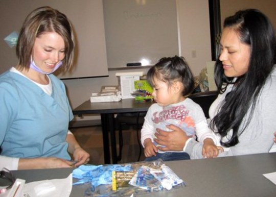 Introducing children to dental care early.