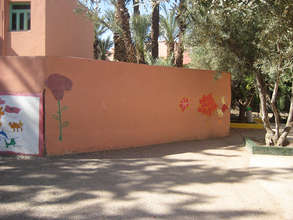 Wall space for mural at Abdellah Chefchaouni