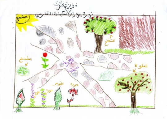 The garden as imagined by girls from Takatart.
