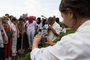 Dar Taliba girls planting a new tree