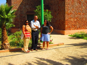 Shonali, Aliza and Project Manager Mohamed.