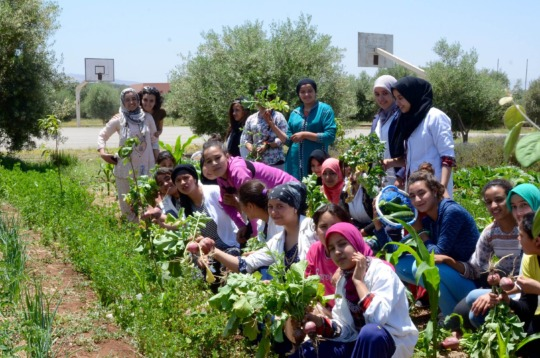 Group photo from GDF's workshop at Dar Taliba