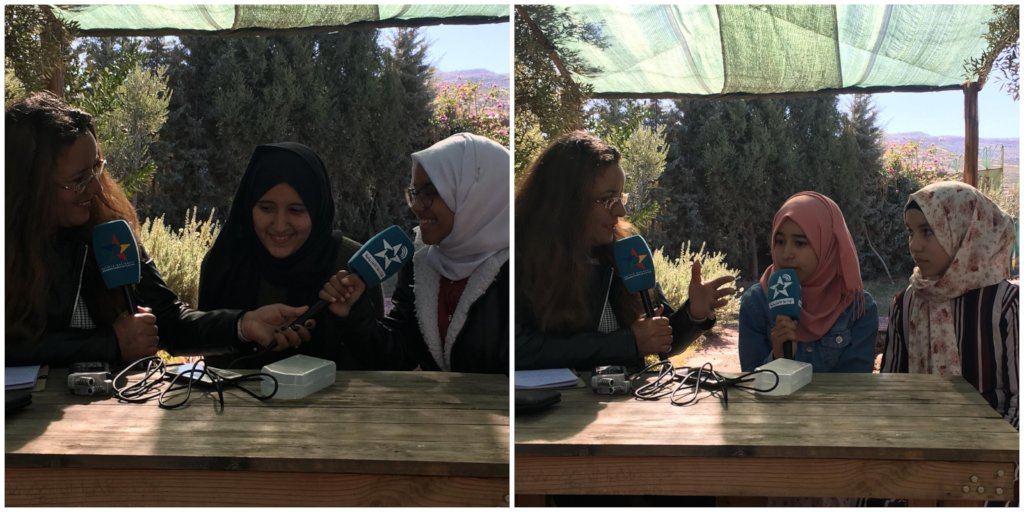 Dar Taliba students during a radio interview