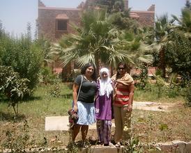 Aliza and Shonali with Jamila.
