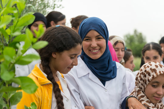 Dar Taliba all-girls boarding house residents
