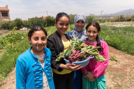 Dar Taliba residents pleased with their harvest