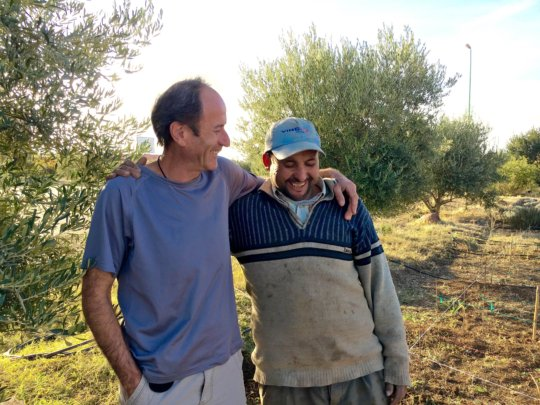 Abdelmalek and our permaculture collaborator