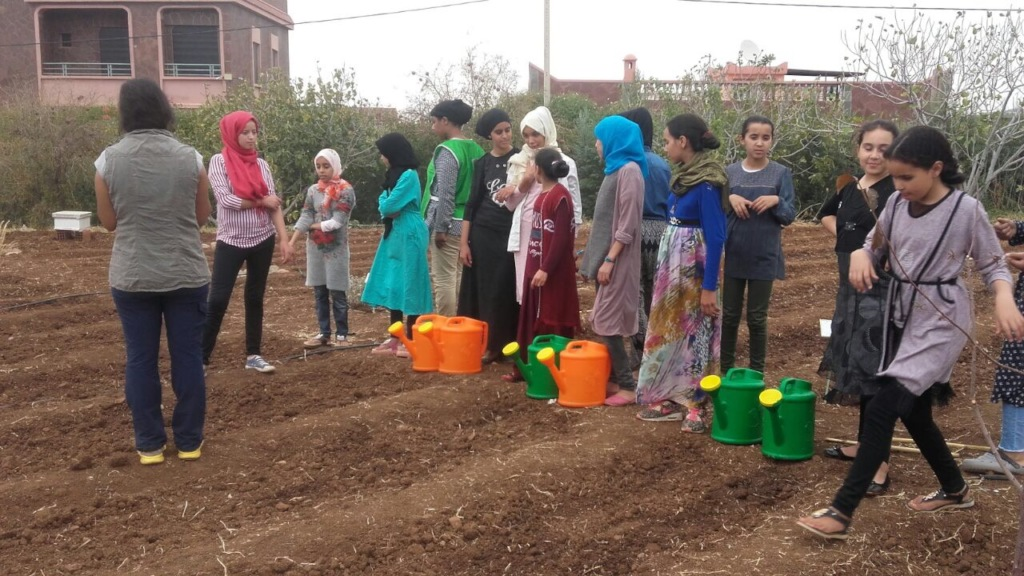 Students receive lessons in water management