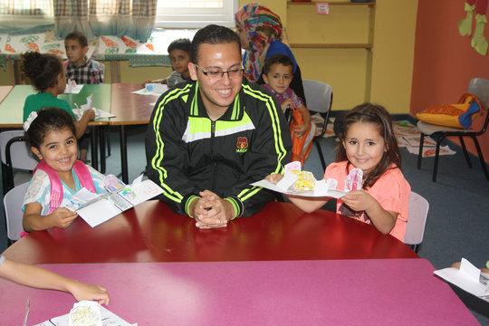 Volunteer Ramsis is proud of his kids