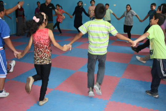 Dabke lessons were a hit for both boys and girls