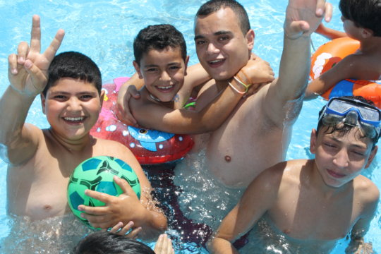 Our boys and volunteers equally loved the pool